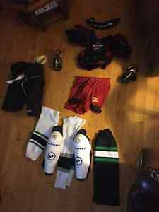 Used hockey equipment and bag