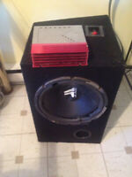 JL Audio sub woofer and Amp