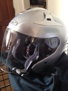 3/4 silver HJC helmet BRAND NEW Kawartha Lakes Peterborough Area image 1