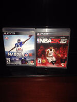 MADDEN 16 and NBA 2K16 w/ warranty - CONTACT ME 204-894-2307