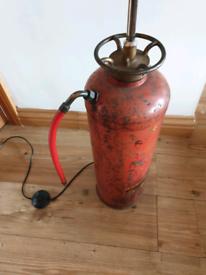 **£145** Vintage Fire Extinguisher Floor Lamp