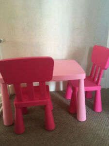 IKEA Table and Chairs plus 5 stools
