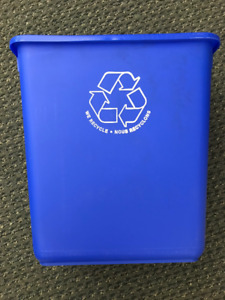 7 - BNIB Rubbermaid Office Recycling Bins - 3 Gallon
