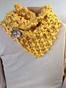 Trendy hand knit cowl with button Sarnia Sarnia Area image 3