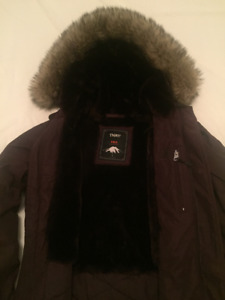 TNA winter jacket, size small, color maroon, excellent condition