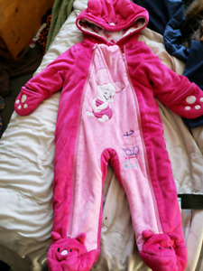 Girls snow suits 12M and 18M