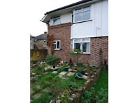 2 BEDROOM HOUSE IN FELTHAM NEAR HEATHROW, + EXTRA ROOM, OWN PARKING, SHED, FRONT + BACK YARD
