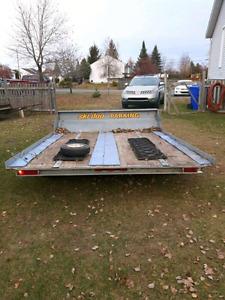 Remorque, trailer double skidoo