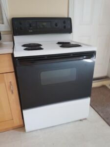 EUC Black and White Electric Coil Stove