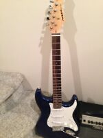 Electric Guitar, Case and Amp for Sale