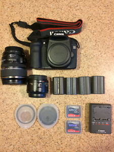 Canon 40D + 17-85mm Lens + 50mm Lens + Kit