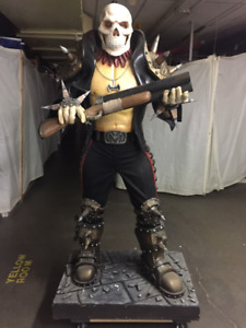 DEATH KILL LIFE SIZE 7 FOOT STATUE ONE OF A KIND!