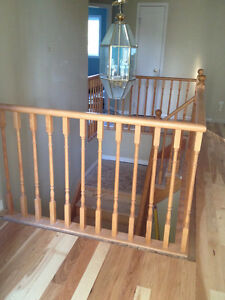 Oak hand rails with balisters