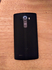 LG G4 with Leather-Look Battery Cover & Otterbox