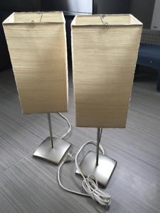 Lampes (2) Ikea papier de riz, 50 cm de haut