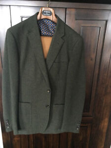 42 Tall Brooks Brothers Hunter Green sports jacket with cotton c
