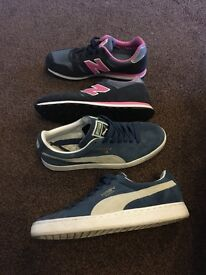 Ladies Puma trainers size 7 & New Balance size 7. £45 for the two pairs.