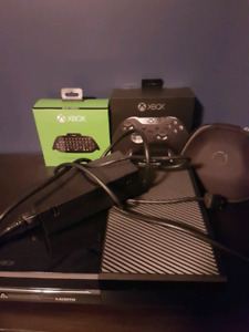 Xbox one, elite controller, chat pad and games