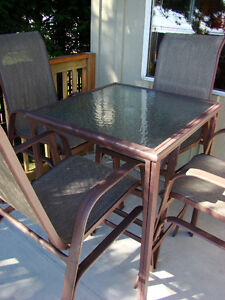Indoor / Outdoor Bar Height Pub Table and Chairs