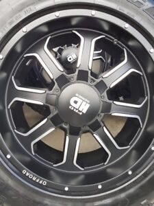 4 NEW FRD TR2 RIMS WITH NEW GOODYEAR DURATRACS LT275/65/20