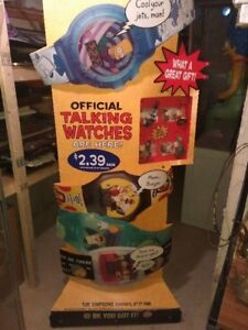 SIMPSONS BURGER KING WATCH STORE DISPLAY