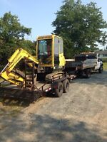 Equipment for hire. Landscaping. Excavation