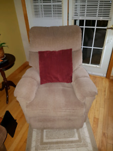 Couch and rocker recliner chair