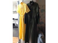 80's style yellow jump suit