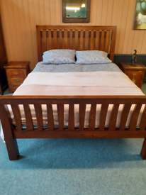 Barker and stonehouse reclaimed oak king size sleigh bed