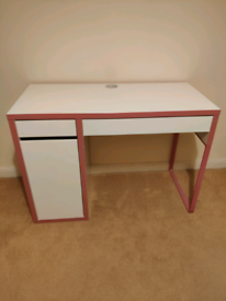 IKEA Micke Desk (pink)