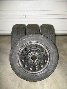 Snow Tires with Rims - Only used for 1 winter (we sold the car) Kawartha Lakes Peterborough Area image 1