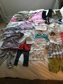 Bundle of 35 items 12 to 24 months girl (Guess jeans, Catimini dress, Bonpoint pyjama and others)