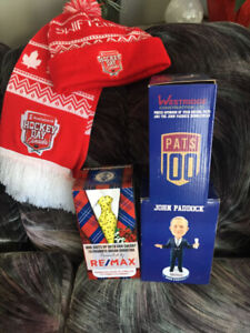 Bobble Heads and Brand new scarf and toque