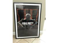 Call of duty black ops lll poster in frame