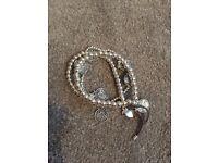 Sterling silver coin bracelets