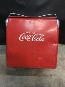 Old Coca-Cola Picnic Cooler