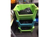 TOY STORAGE BOXES X 3