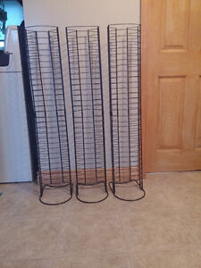 3 DVD storage stands