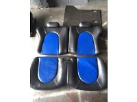 Ford Ka sport seats and door cards blue