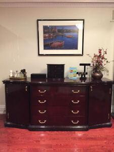 Wooden Furniture (Dresser/2 Side Tables/ Table)