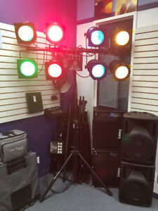 Leviton Par 56 stage lighting system with MC7008 console