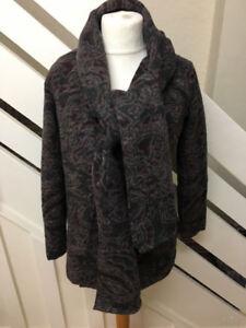ZARA Poncho Cape Hood Jacket Scarf Wrap Coat Autumn Fall M Med