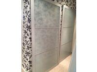 IKEA frosted glass sliding wardrobe doors - FREE