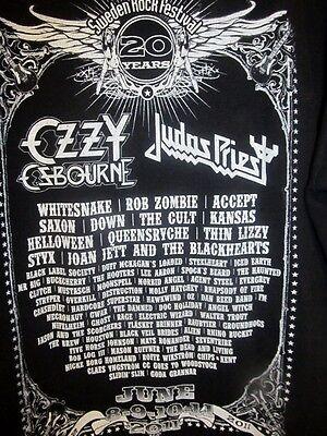 2011 Sweden Rock Festival Concert shirt - Ozzy/Judas Priest/ Whitesnake - Large