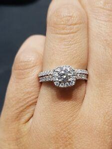 1.00ctw 14K White Gold Diamond Engagement Ring Oakville / Halton Region Toronto (GTA) image 1