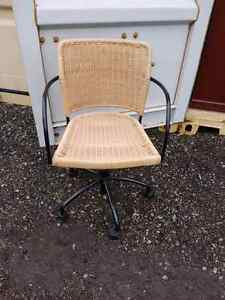 Wicker computer chair