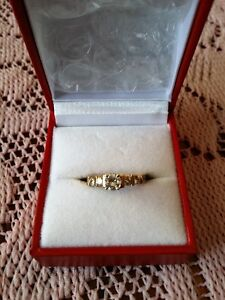 BRAND NEW ENGAGEMENT RING--SIZE 7--14K GOLD