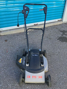 """Craftsman Electric Lawnmower 18"""" 9A Side Discharge"""