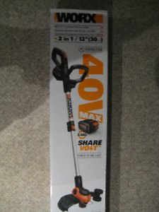 WORX 40VOLT STRING TRIMMER / EDGER