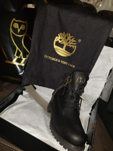 Size 9 Black OVO x Timberland 6' Inch Waterproof Boot (SOLD OUT